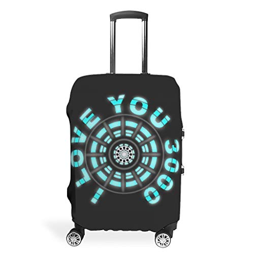I Love You 3000 Travel Luggage Cover Foldable Anti-Scratch Fits 18-32 Inch for Wheeled Suitcase Over Softsided White m(22-24 inch)