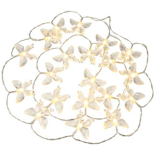 OSALADI Cadena de Luces de Mariposa 20Leds con Pilas Luces de Hadas de Mariposa Luces de Decoración para Fiestas Al Aire Libre Interiores Jardín de Vacaciones Blanco Cálido