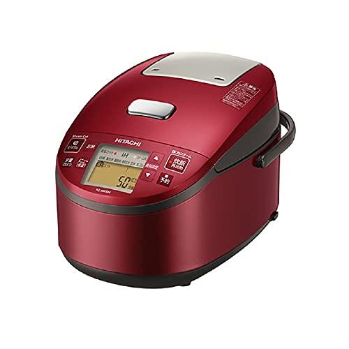 日立 炊飯器 5.5合 圧力&スチームIH ふっくら御膳 日本製 黒厚鉄釜 蒸気カット RZ-AX10M R メタリックレッド
