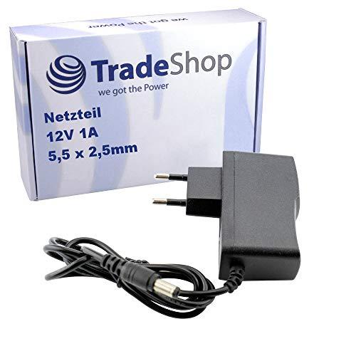 Netzteil Ladegerät Ladekabel Adapter 12V/1A 5,5mm x 2,5mm passend für T-Com Telekom Speedport W303V W502V W503V W504V W700V W701V W720V W721V W722V W900V W920V Speedport Bridge W100 W101