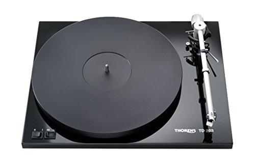 Thorens TD203 - Tocadiscos (Tocadiscos de tracción por Correa, Negro, MDF, 45 RPM, CC, 3,53 kg)