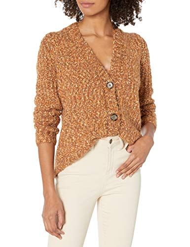 kensie Damen Twisted Boucle Cardigan Pullover, Toffee Combo, Mittel