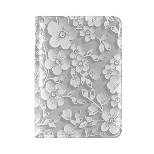 My Daily Capa protetora de couro com estampa floral 3D para passaporte