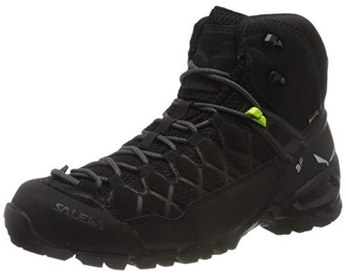 Salewa Herren MS Alp Trainer Mid Gore-TEX Trekking-& Wanderstiefel, Black/Black, 41 EU