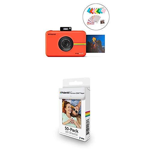 Polaroid Snap Touch 2.0 - Cámara Digital portátil instantánea, Rojo + Paquete de 50 Hojas