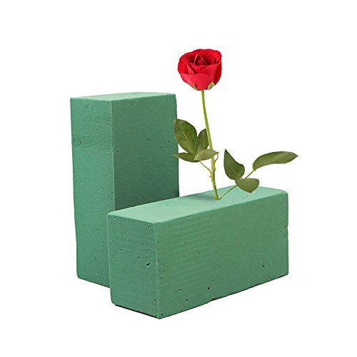 Floral Foam for Fresh Flower Arrangements Wet Florist Foam Block Flower Mud Flower Foam Holder for Sculpture, Modeling, DIY Arts Crafts, 23x11x7cm