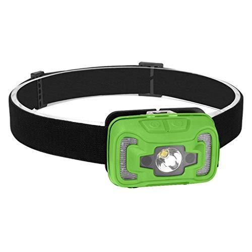 Número de luces de cabeza Faros delanteros LED de inducción Faros delanteros Faros delanteros Lámpara Linterna Antorcha Luz frontal Carga USB 60 grados Ajustable Antorchas estándar Herramientas manual