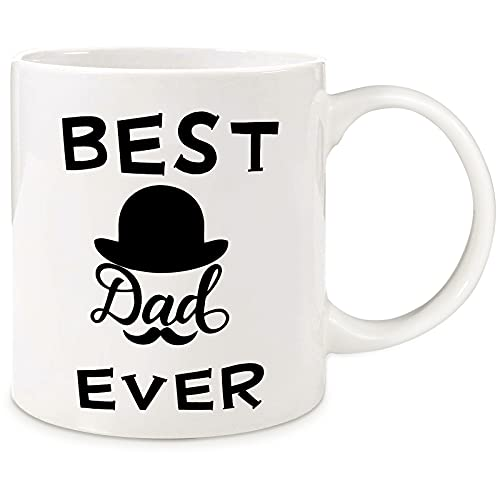 Donse Dad Gifts for Fathers Day from Daughter Son Kids, Funny Ceramic Coffee Mug Gifts for Daddy Papa Grandpa Father in Law Stepdad Husband, Father's Day Birthday Christmas Unique Gifts for Men&Him