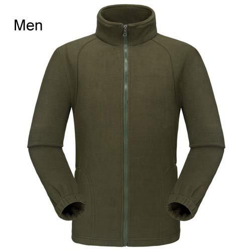 HANGON AW220 Veste de randonnée Femme/Homme Chaude Polaire Camping/Voyage/Escalade/Trekking, Jaune pour femme., tallie asiatique L