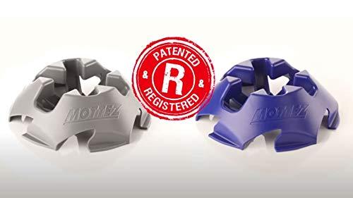 BricoLoco Soporte para Patinete Universal Varias Medidas. Aparca patinetes para Ruedas Ø 100-150 mm. y Ancho 25-38 mm. Encajable un Soporte con Otro. (Azul, 1 Unidad)