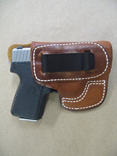 Kahr P380, CT380. CW380 IWB Molded Leather Inside Waistband Concealed Carry Holster TAN RH