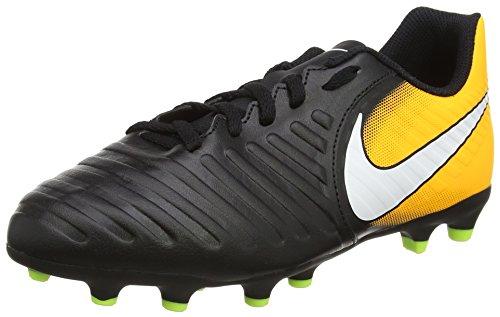 Nike Jr Tiempo Rio IV FG, Botas de fútbol para Hombre, Negro (Black/White/Laser Orange/Volt), 35 EU