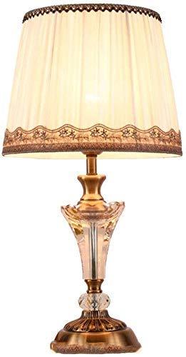 Lámpara de Mesa Lateral Personalidad Sencilla lámpara de Escritorio del diseño del Arte de Cristal Azul de la cabecera del Escritorio Decorativo luz de la Noche