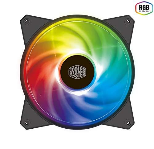 Cooler Master MasterFan MF120R RGB (R4-C1DS-20PC-R1): ventola PWM RGB da 120mm, cuscinetto ad alta scorrevolezza, design ibrido delle pale con bilanciamento del flusso d'aria, nero