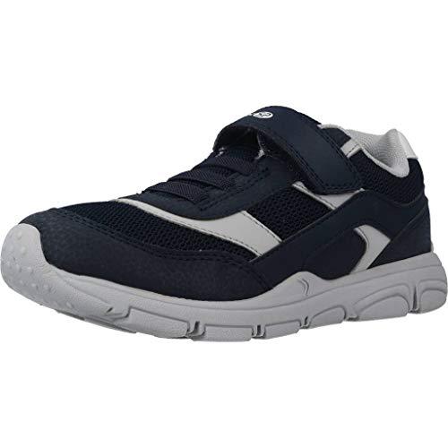 Geox New Torque Boy J847NA Jungen Slip-On Sneaker,Kinder Halbschuh,Sportschuh,Slipper,Gummizug,Klettverschuss,Navy/Grey,31