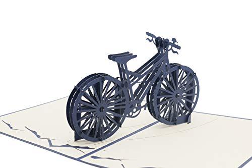 Fahrrad Herrenfahrrad Mountainbike Fahrradtour Fahrrad-gutschein 3d Klappkarte, Pop Up Karte, Glückwunschkarte, Grußkarte, Geschenkkarte