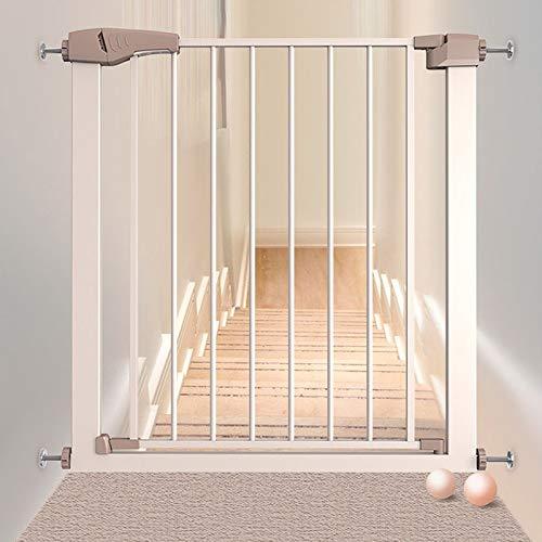 Huo Intérieur Bébé Barrière de Sécurité for Portes Extension Safety 1st Ajustement de Pression Rétractable Chatière for Les Escaliers (Size : 82-89cm)