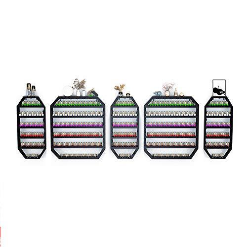 Dagelijkse benodigdheden Muurmontage nagellak displaystandaard, Metalen etherische olie/nagellak standaard, 6-laags nagellak displaystandaard, Nagellak Opbergdoos/Wandstandaard/Bewaarwand