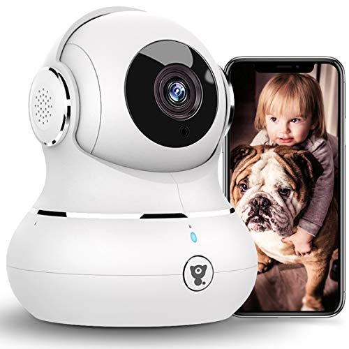 [2021 New] Indoor Security Camera, Littlelf 1080P WiFi Home Cameras with App for Phone, Pet Camera Baby Monitor with Night Vision, Motion Detection, Support Cloud & SD Card Storage Cameras Dome