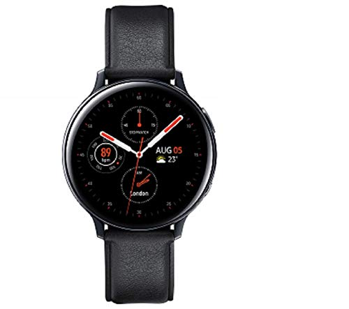 Samsung Galaxy Watch Active2 Explorer Edition, Fitnesstracker aus Edelstahl, großes Display, ausdauernder Akku, wassergeschützt, 44 mm, inklusive 2x araree Schutzfolie, LTE, Schwarz