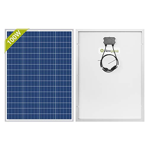 Newpowa 100 vatios 12 voltios panel solar policristalino 100W 12V módulo de alta eficiencia Rv barco marino fuera de la red