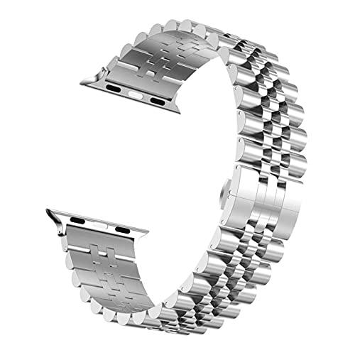 RVTYR Reloj Correa, Correa de Acero Inoxidable 40mm 44mm 38mm 42mm Pulsera de reemplazo de Metal Pulsera Deportiva Pulsera Correas de Repuesto (Color : 42mm Or 44mm, Size : Silver)