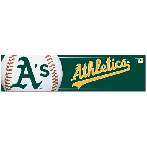 WinCraft MLB Oakland Athletics Bumper Sticker, Team Color, One Size