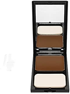 Compact Face Powder by Sacha Cosmetics, Best Pressed Matte Finishing Powder for use alone or Setting your Makeup Foundation to give a Flawless Finish, for All Skin Types, 0.45 oz, Perfect Bronze
