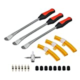 Handfly Tire Spoons Tool Set, Professional Tire Changing Kit for Dirt Bike, Motorcycle, Wheelchair, Lawn Mower, Tractor, 3X Tire Spoons, 3X Rim Protectors, 1X Valve Tool, 6X Valve Cores