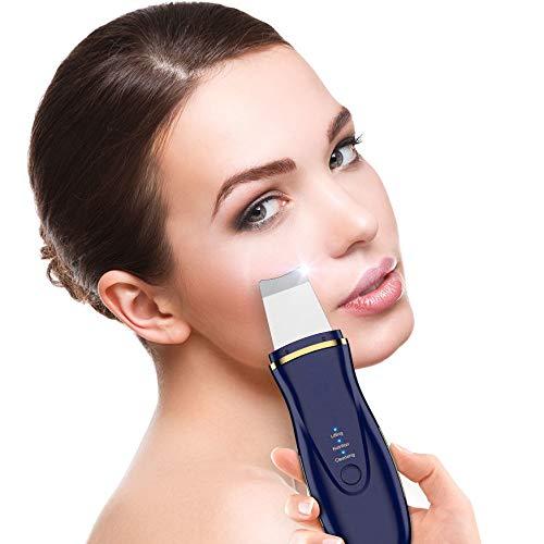 Ultrasonic Vial Skin Scubber Cleaner Ion Acne Blackhead Remover Peeling Shovel Cleaner Massaggiatore facciale