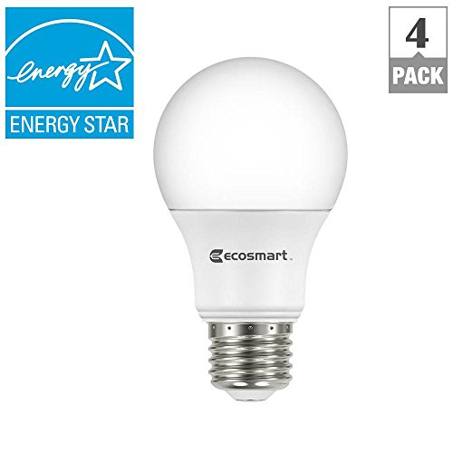 EcoSmart 40W Equivalent Soft White A19 Energy Star Dimmable LED Light Bulb (4-Pack)