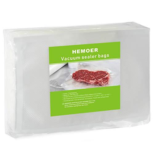 JEMESI 100 piezas Bolsas de Vacio para Alimentos, BPA Free, Bolsas de Vacio Gofradas para Conservación de Alimentos y Sous Vide Cocina & Boilable(30 x 20cm)