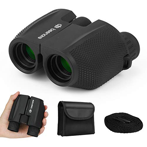 Binoculars for Adults and Kids, Beenate 10x25 Compact Binoculars with Low Light Night Vision, Small High Powered Binoculars for Bird Watching Hunting Travel Sightseeing Outdoor Sports and Concert