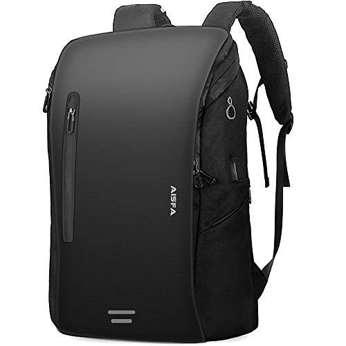 リュックメンズ AISFAリュックサック バックパック防水レバー付き 17インチ PC ビジネス リュック ラップトップバック bag大容量 USB充電機能付き30L アウトドア旅行 学生 通勤 男女兼用 修学A4収納