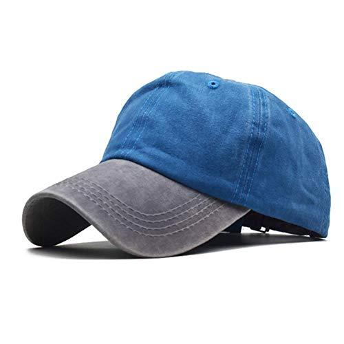 N/F Sombrero Huesos De Algodón Lavado Retroproyector Color De La Tapa Multicolor De Béisbol del Casquillo del Sombrero Masculino del Pin Papá Cap Personalizada,Artículo 9,Ajustable