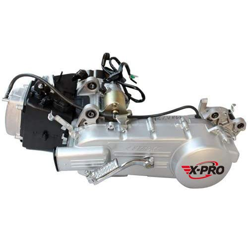 X-PRO 150cc Long Case 4-stroke GY6 Air cooled Moped Scooter Engine with CVT Automatic Transmission