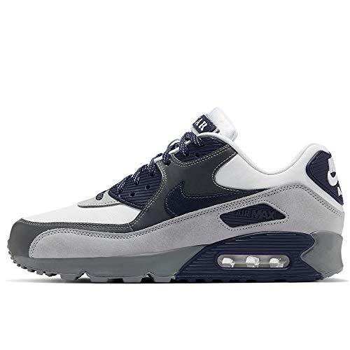 Nike Air Max 90 Nrg, Chaussure de Course Homme, White/Neutral Indigo-Smoke Grey, 44 EU
