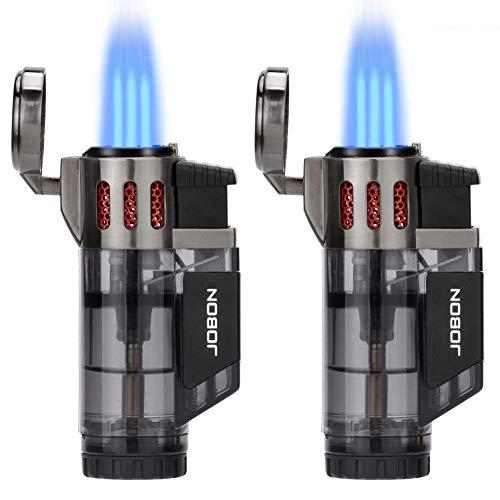 Torch Lighter, Cigar Lighter, Triple Jet Flame Torch Lighters, Windproof Butane Refillable Gas Torch...