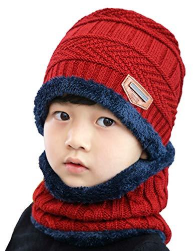 Bestgift Heren 2-delige warme gebreide muts sjaal set