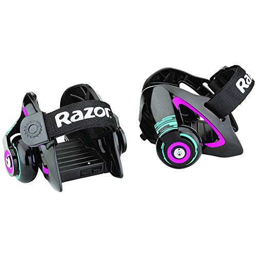 Razor Jetts Heel Wheels roller di colore viola con scintille