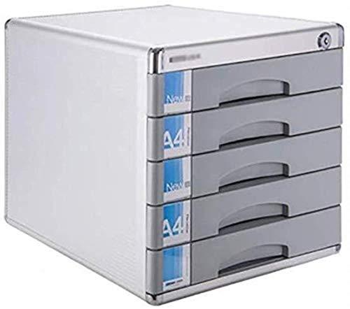 Armadio di archiviazione, file rivista File Bloccabile Bloccabile in lega di alluminio DATA Scatola di archiviazione da tavolo da tavolo Desktop Desktop Cassetto armadio Landslide Track Piccola scatol