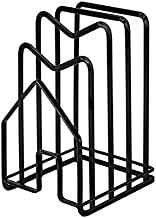 Cutting Board Rack, Chopping Board Organizer Stand Holder Rack, Dishes Plates Pot Pan Lids Rack Organizer for Kitchen Cabinet Countertop (black)