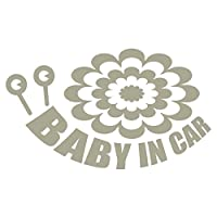 imoninn BABY in car ステッカー 【シンプル版】 No.27 デンデンムシさん (グレー色)