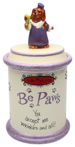 Appletree Design Be Paws You're My Friend Cookie Jar, 12-Inch, You Accept Me Wrinkles and All