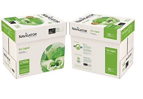 NAVIGATOR 75 gsm A4 eco-logisch papier 10x Reams (5,000 Sheets) - 2x Box