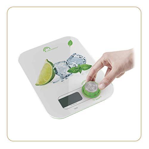 Little Balance 2021 - Báscula de cocina, Vidrio templado, 5 kg, limón Ice