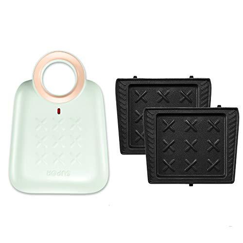 Smzj Panini Griglia/Grill/Tostiera Sandwich Maker,Leggero e Compatto, Acciaio Inossidabile,Antiaderente Sicurezza/A / 650W