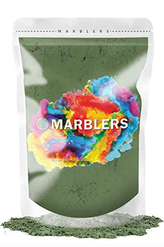 MARBLERS Mica Powder Colorant 3oz (85g) [Forest Green] | Pearlescent Pigment | Tint | Pure Mica Powder for Resin | Dye | Non-Toxic | Great for Epoxy, Soap, Nail Polish, Cosmetics and Bath Bombs