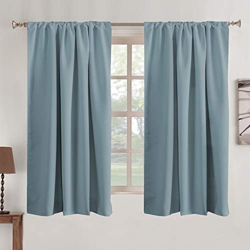Window Treatment Blackout Curtain Panels Rod Pocket and Back Tab Curtains Window Panels for Living Room Insulated Thermal Blackout Draperies for Bedroom, 52' W x 63' L inch 2 Panels