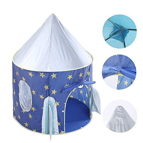 Children's Play Tent Binnen Buiten Raketontwerp Play Tent Garden Toys Met Stoffen Tas Voor Meisjes Jongens 3,4,5 Jaar Oud